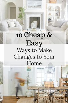 10 Ways to Make Changes to Your Home that are Easy and Cheap!  #homedecor #budgetdecorating #homeimprovment #homedesign #interiordesign #interiordecor