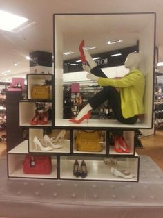 Bags and Shoes Indoor Display at Debenhams, London