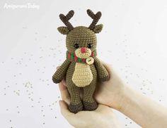 Free Cuddle Me Reindeer crochet pattern by Amigurumi Today