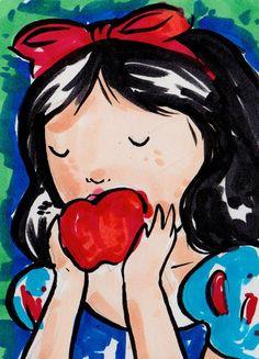 Disney Inspired Snow White Original Artist Trading by nicolesloan