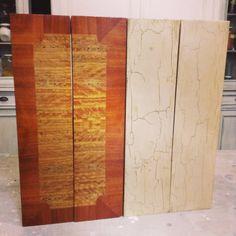 Buen ejemplo de craquelado en Old Ocre de Annie Sloan, ya sabéiis que nuestra Chalk Paint™ Se puede aplicar sobre muebles lacados sin problemas, en este caso en los cajones de una mesilla en laca brillante, el cambio es radical,