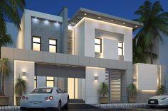 Modern villa - saudi arabia Architect Helmi Ben Salah Modern Villa Design, Family House Plans, Dream House Interior, Casement Windows, House Elevation, Model Homes, Saudi Arabia, Exterior Design, Santa Clara