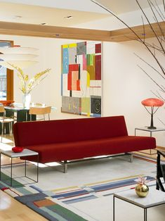 red couch - modern