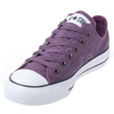 Converse sneakers are always great to have in your shoe collection! There's always so many great colours, and these Chuck Taylors offer exception comfort and durability! With Converse low top grapewine sneakers you get a shoe that will outlast all your others, even if you do wear them everyday! They are great for that go-to shoe with their versatile colour!