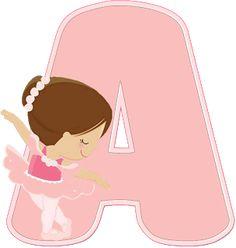 Ballerina Birthday Parties, Ballerina Party, 3rd Birthday Parties, Baby Birthday, Abecedario Baby Shower, Ballerina Barbie, Gold Baby Showers, Bday Girl, Alphabet And Numbers