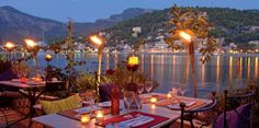 Restaurant Es Faro in Port de Soller, Mallorca.........fabulous view at sunset and wonderful seafood options!