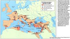 Image:The Origins and Spread of Christianity to AD - QED Roman History, European History, World History, Origin Of Christianity, Roman Roads, Out Of The Dark, Medieval World, Atlas, Dark Ages