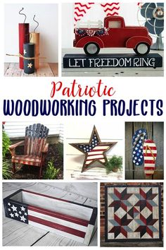 "From easy and beginner level to full furniture builds. these projects scream ""god bless america"" with their stars and stripes american flag motifs! diy for beginners plans tips tools Wood Projects For Beginners, Beginner Woodworking Projects, Learn Woodworking, Wood Working For Beginners, Custom Woodworking, Diy Wood Projects, Woodworking Crafts, Teds Woodworking, Wood Crafts"