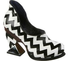 Irregular Choice Black and White Leather Shoes