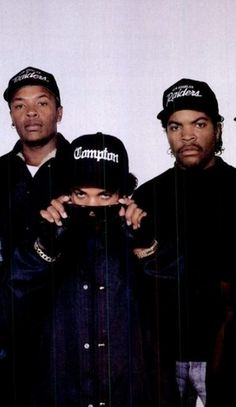 Ice Cube, Eazy-E and Dr. Dre of NWA