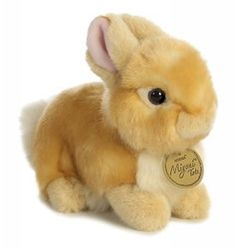 "Miyoni Tots Baby Bunny Beige by Aurora - 26255  Aurora World's Miyoni Tots are part of the premium Miyoni line of plush animals, and highlight the endearing looks & poses of young animals. Each hang tag tells a story of that species or breed's life as a youngster. Tots feature air-brushed color accents and all Miyoni products are made with superior materials and great attention to detail. 4.5"" tall"