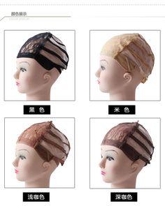 Pas cher 5 pcs/lote dentelle perruque casquettes filets à cheveux pour la…