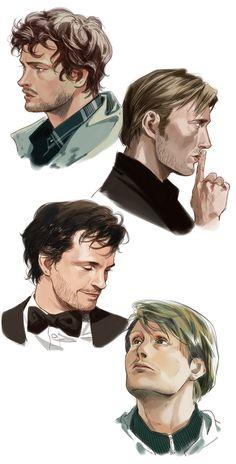 Hannibal Tv Series, Nbc Hannibal, Hannibal Lecter, Will Graham Hannibal, Psychological Horror, Hugh Dancy, Mads Mikkelsen, Anime Comics, American Horror Story
