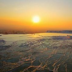 """Hot springs in Pamukkale, #Turkey have long been sought for their healing effects. Poetically translated, the city's name means """"cotton castles."""" Photo courtesy of ecesubasi on Instagram."""