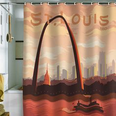 St Louis Shower Curtain 69x70 now featured on Fab.