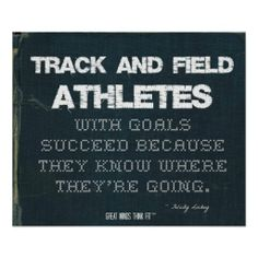 Track and Field Athletes with Goals Succeed: Denim