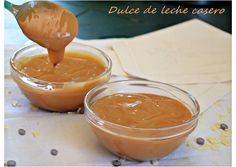 Dulce de leche casero (Thermomix) Thermomix Desserts, Deserts, Food And Drink, Pudding, Cookies, Spreads, Diy, French Toast, Sweets