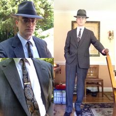 The dark gray suit is from either the late 60's or early 70's, tie is from the…