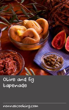 """Olive and fig tapenade 