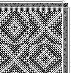 Advancing Twill Weaving Draft - All Fiber Arts