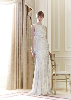 Beaded Wedding Dress by Jenny Packham - Spring 2014 Jenny Packham Wedding Dresses, Jenny Packham Bridal, Wedding Dresses 2014, Lace Wedding Dress, Designer Wedding Dresses, Bridal Dresses, Wedding Gowns, Modest Wedding, Dresses Dresses
