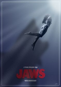Jaws - 40th Anniversary movie poster - Simon Delart