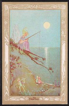 Florence Harrison (English, 1877–1955). The Fisherman. ❤•❦•:*´¨`*:•❦•❤