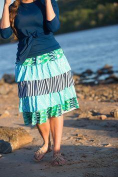 Modest Fashion | Modest Bridesmaid Dresses | Modest Swimwear | Ocean Blue 2-piece Swimset