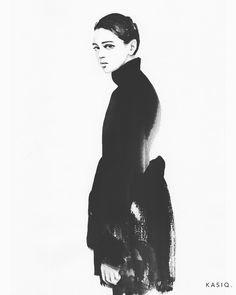 """좋아요 219개, 댓글 5개 - Instagram의 Kasiq Jungwoo(@kasiqjungwoo)님: """"watercolor on paper © kasiq . . Zhenya Katava . . . . . #kasiq #fashion #sketch #style #sight…"""""""