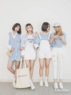 Official Korean Fashion : Korean Fashion Similar Look - Fashion Fashion Mode, Korea Fashion, Kpop Fashion, Cute Fashion, Asian Fashion, Girl Fashion, Fashion Looks, Fashion Design, Korean Beach Fashion