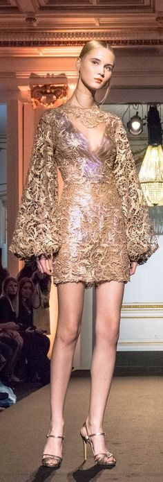 Bad legs, bad shoes- but I love the dress!- Dany Atrache Couture Spring 2015