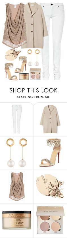 """""""The 100"""" by felicitysparks ❤ liked on Polyvore featuring dVb Victoria Beckham, Joanna Laura Constantine, Christian Louboutin, Haute Hippie and Too Faced Cosmetics"""