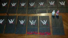 WWE Favor Bags ...3D Fabric Paint  Plain Black Paper Bags
