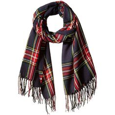 RAMPAGE Women's Plaid Blanket Wrap ($45) ❤ liked on Polyvore featuring accessories, scarves, plaid scarves, tartan scarves, tartan plaid scarves, plaid wraps shawls and wrap shawl