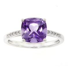 Amethyst & Diamond Ring 14K, size 8, $399, Ben Bridge Jewelers