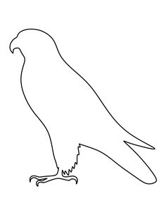 Falcon pattern. Use the printable outline for crafts, creating stencils, scrapbooking, and more. Free PDF template to download and print at http://patternuniverse.com/download/falcon-pattern/