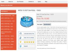 Intex Easy Round 15 Feet X 36 inch Pool Details. Intex Easy 15' Quick-Set Ring Pool includes a repair patch and more, and the pool is 36 inches deep.  http://www.intexpoolindia.com/bangalore/15-feet-inflatable-pool-15id3.html