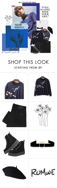 """""""I wish you were mine 【TAEHYUNG】"""" by ahjinssi ❤ liked on Polyvore featuring Balenciaga, Nudie Jeans Co., T.U.K. and Anissa Kermiche"""