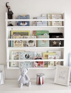 Reading corner and bookshelves for kids room Sweet Home, Bookshelves Kids, Book Shelves, Book Storage, Kids Corner, Little Girl Rooms, Kid Spaces, Kids Decor, Boy Room