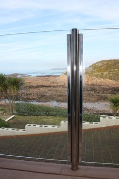 Post Channel Design, Stainless Steel and Glass Balconies, Metal Working, It Works, Channel, Iron, Stainless Steel, Island, Glass, Design