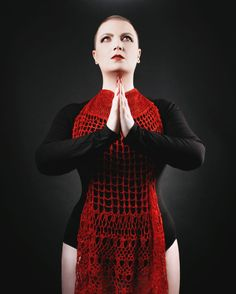 Crochet is badass. Here's a completely different aesthetic to @thecrochetproj // @notsogranny excellent pattern Cherry Pi to show how versatile it is by styling it a little differently.  Photography by @myboudoir Modelled by myself. . . . #countessablaze #crochet #crochetgirlgang #cherrypi #thecrochetproject #indiedyer #ukdyer #ravelry #britishwool #craft #slowfashion