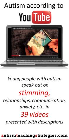 Want to learn more about stimming? Let autistic people on YouTube explain it to you.