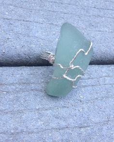 Seaglass Cocktail Ring on Etsy, $21.00