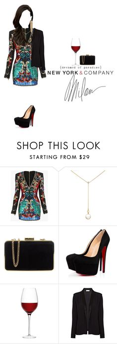 """Look by:Melanie"" by melanie-pacheco ❤ liked on Polyvore featuring Balmain, Renee Lewis, MICHAEL Michael Kors, MAC Cosmetics, LSA International, American Vintage and Capwell + Co"