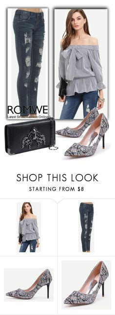 """Romwe VI/9"" by dzemila-c ❤ liked on Polyvore featuring romwe"