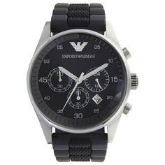 Armani Watches AR5866 Gents Black Silicon Watch