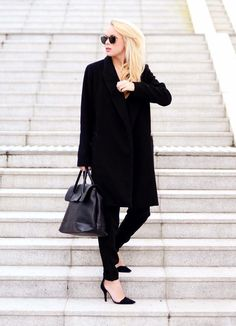 Shop this look on Kaleidoscope (coat, sunglasses, pumps, purse)  http://kalei.do/WZ1h4VDgqsldEA27