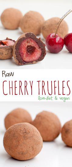 Raw Chocolate Cherry Truffles - Shine with Nature  #kombuchaguru #rawfood Also check out: http://kombuchaguru.com