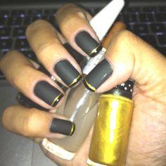 Black Matte n Gold
