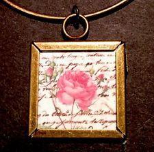 Handmade OOAK Rose Image Pendant